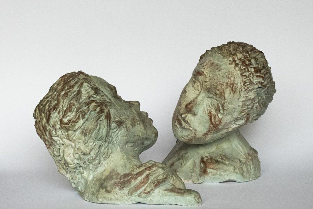 Sculptures de Joëlle Ordner - Terres cuites patinées